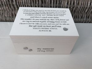 Personalised LARGE In Memory Of Box Loved One ~ DAD ~ any Name Bereavement Loss - 232739878575